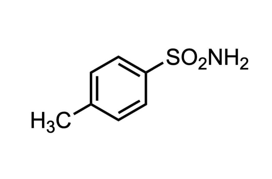 p-トルエンスルホンアミドの構造式