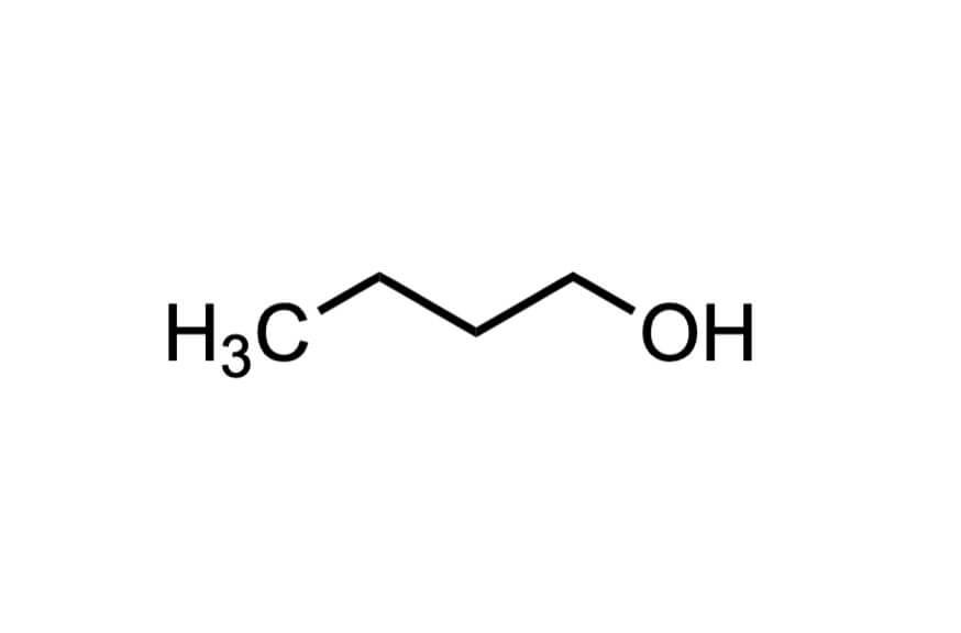 1-ブタノールの構造式