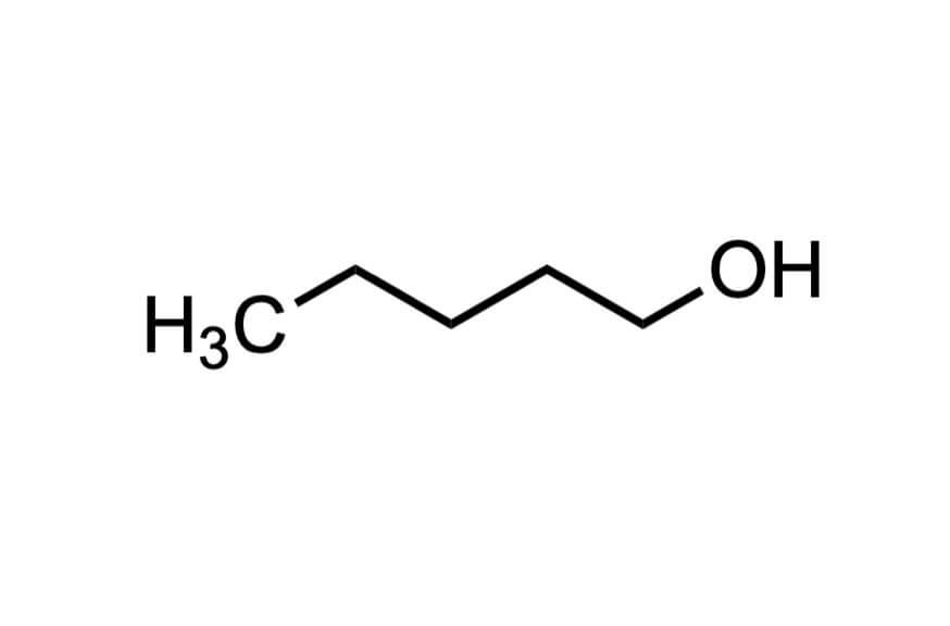 1-ペンタノールの構造式