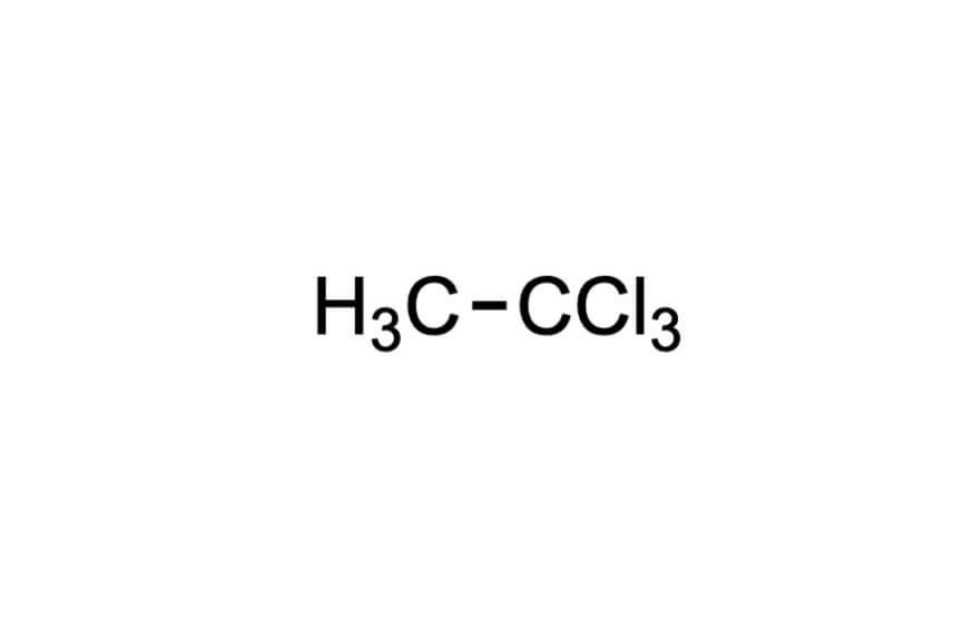 1,1,1-トリクロロエタンの構造式