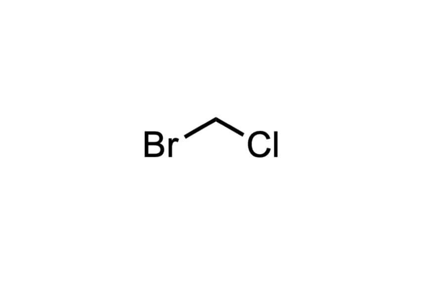 ブロモクロロメタンの構造式
