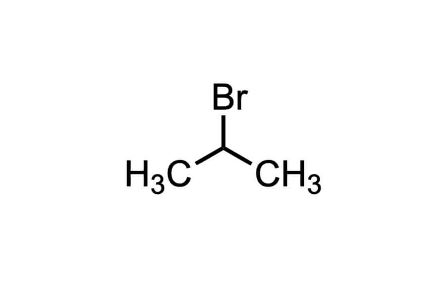 2-ブロモプロパンの構造式