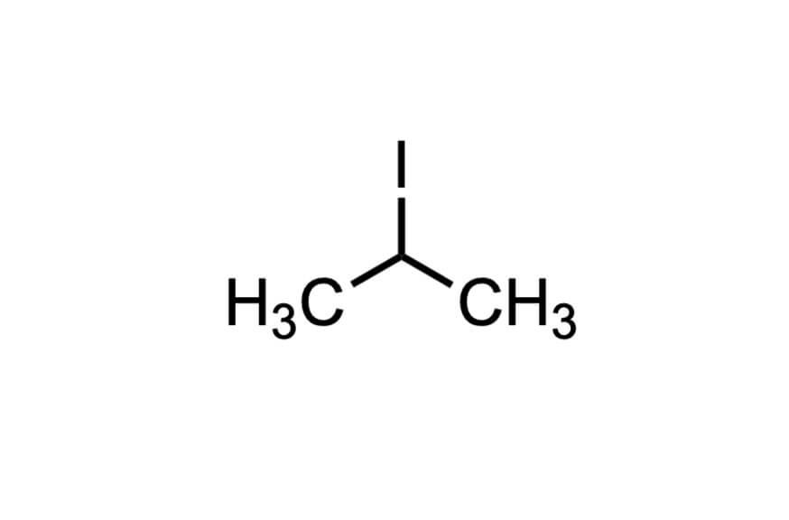 2-ヨードプロパンの構造式