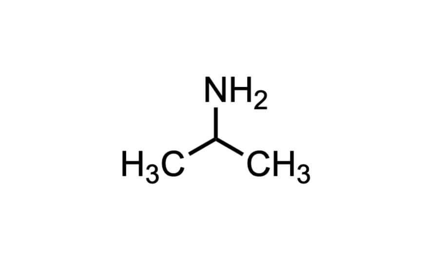イソプロピルアミンの構造式