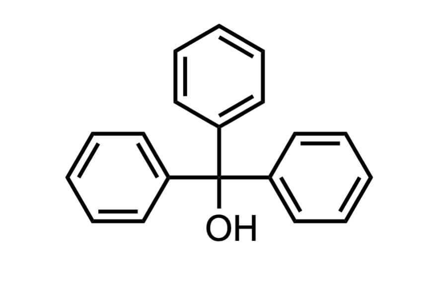 トリフェニルメタノールの構造式