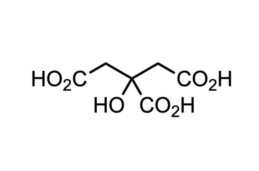 クエン酸の構造式