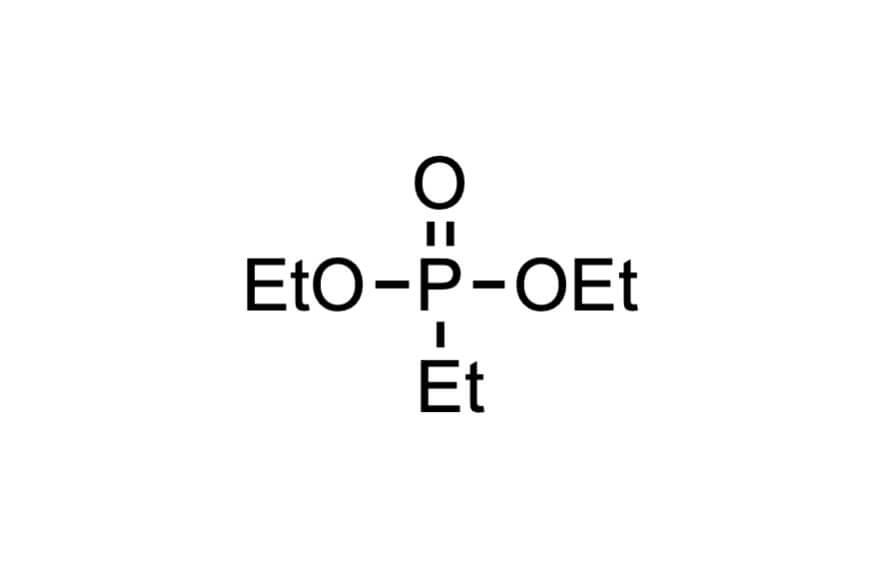 エチルホスホン酸ジエチルの構造式