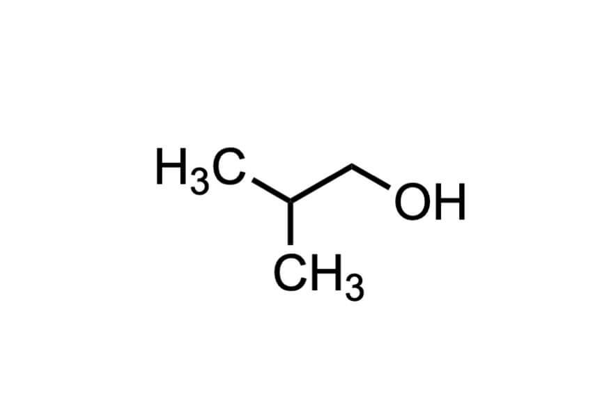 2-メチル-1-プロパノールの構造式