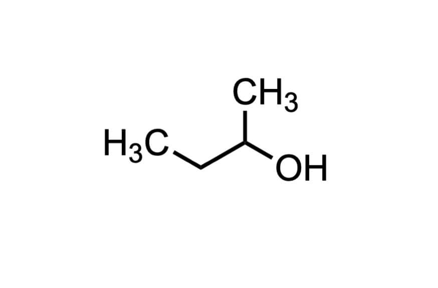 2-ブタノールの構造式