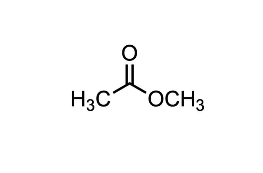 酢酸メチルの構造式