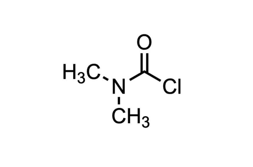 ジメチルカルバモイルクロリドの構造式