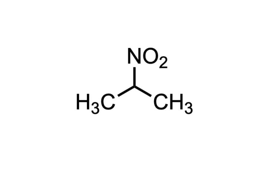 2-ニトロプロパンの構造式