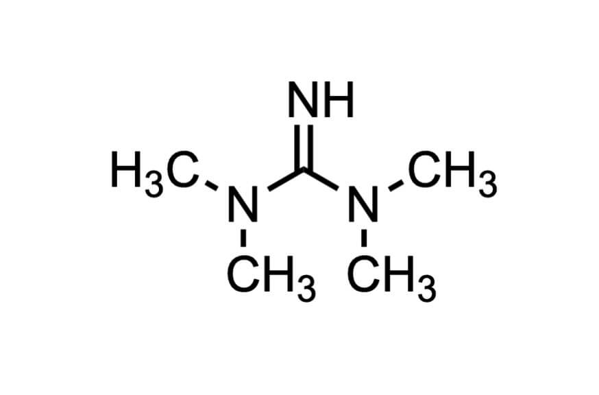 1,1,3,3-テトラメチルグアニジンの構造式