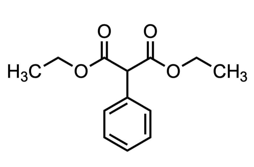 フェニルマロン酸ジエチルの構造式