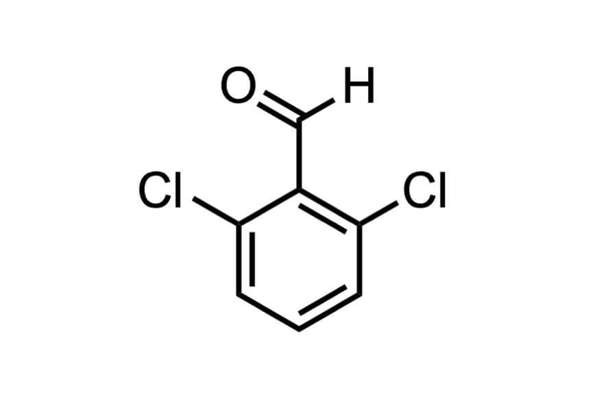 2,6-ジクロロベンズアルデヒドの構造式