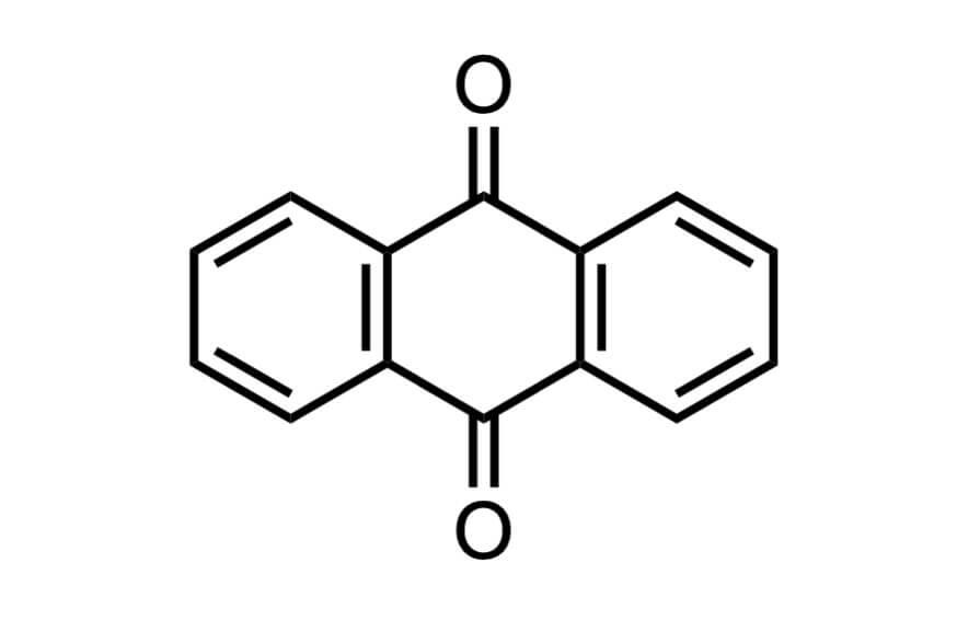 アントラキノンの構造式
