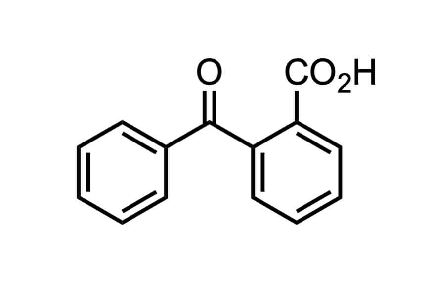 2-ベンゾイル安息香酸の構造式