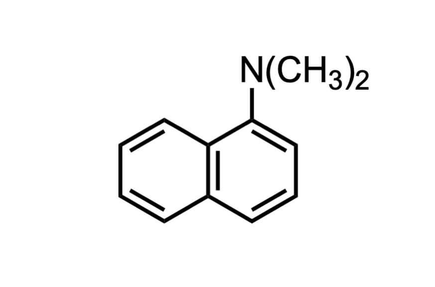 N,N-ジメチル-1-ナフチルアミンの構造式