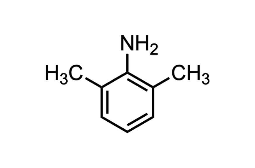 2,6-ジメチルアニリンの構造式