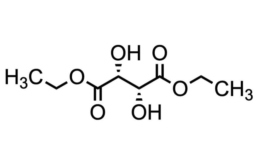 L-(+)-酒石酸ジエチルの構造式