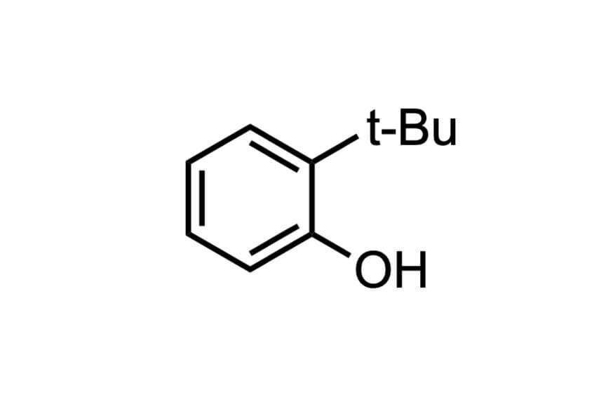 2-tert-ブチルフェノールの構造式
