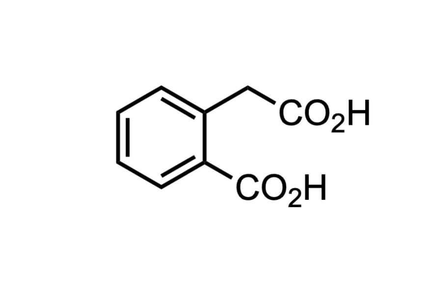 ホモフタル酸の構造式