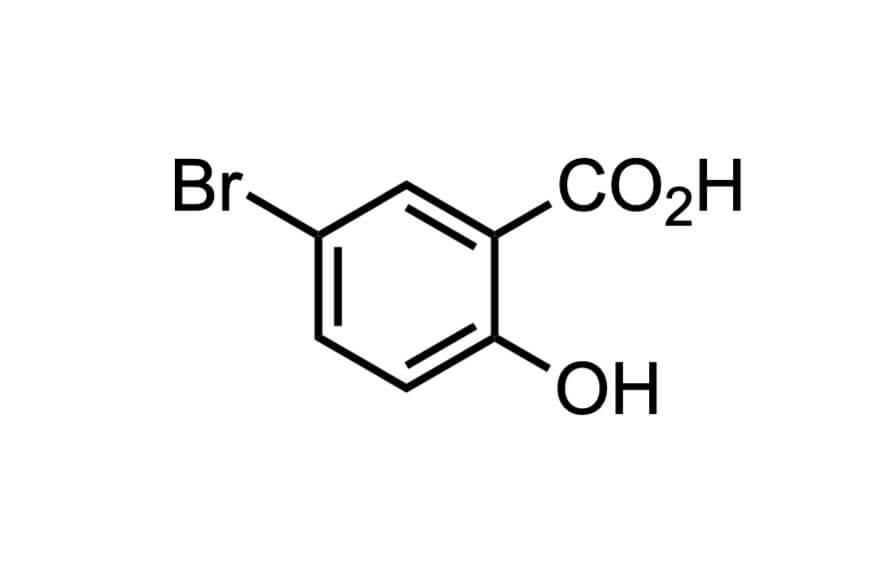 5-ブロモサリチル酸の構造式