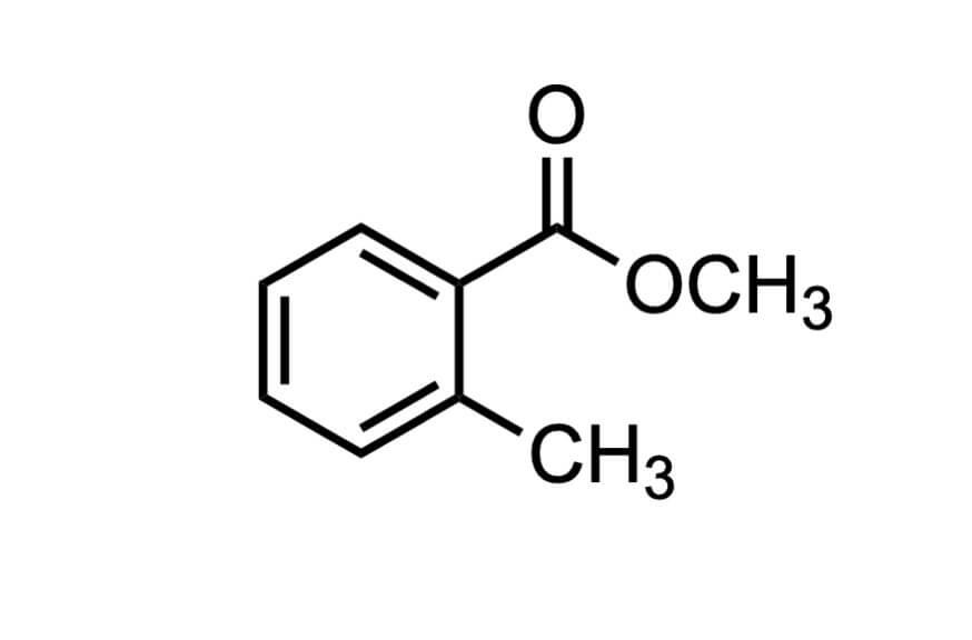 o-トルイル酸メチルの構造式