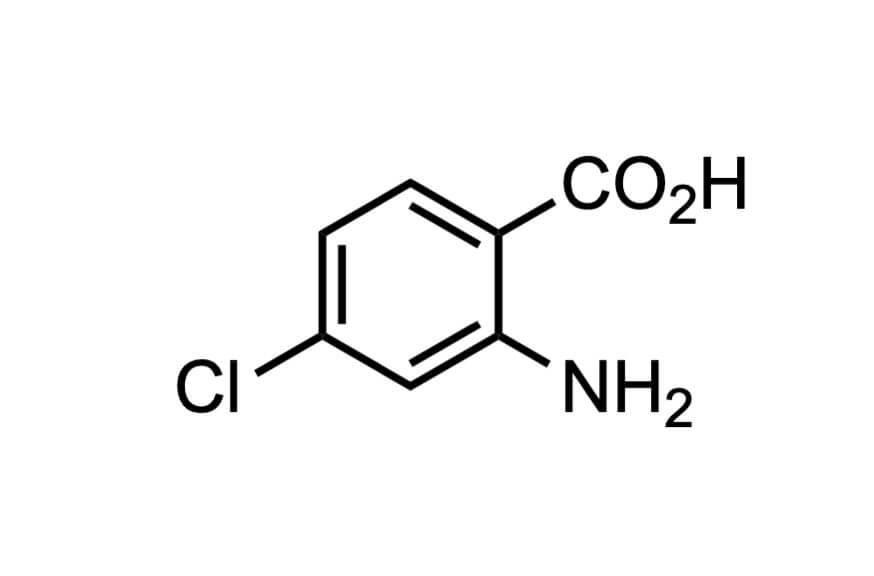 4-クロロアントラニル酸の構造式