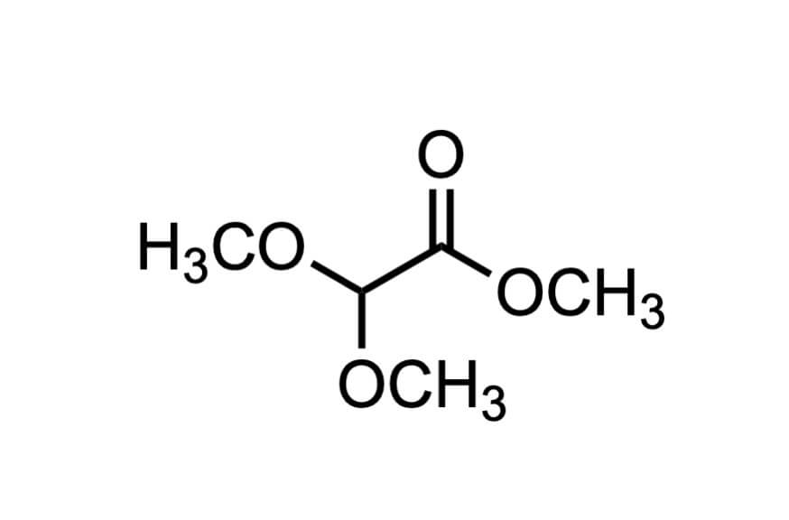 ジメトキシ酢酸メチルの構造式