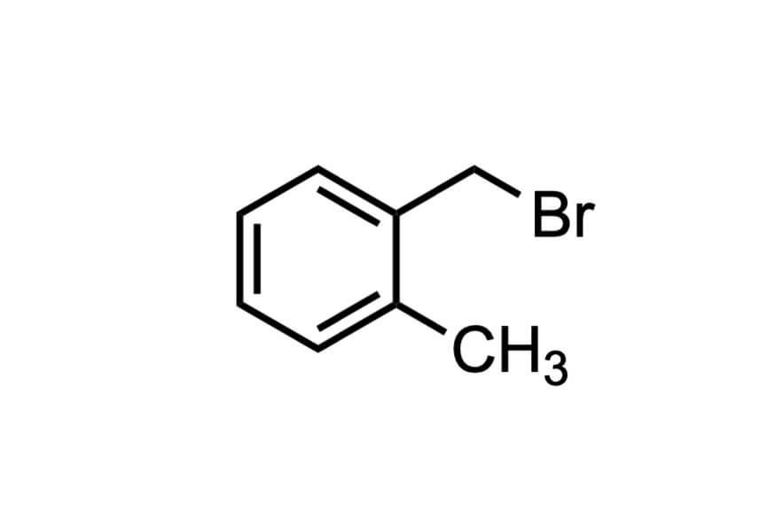 α-ブロモ-o-キシレンの構造式