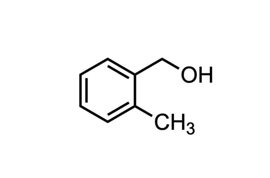 2-メチルベンジルアルコールの構造式