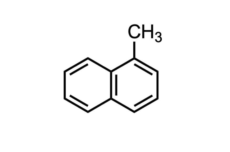 1-メチルナフタレンの構造式