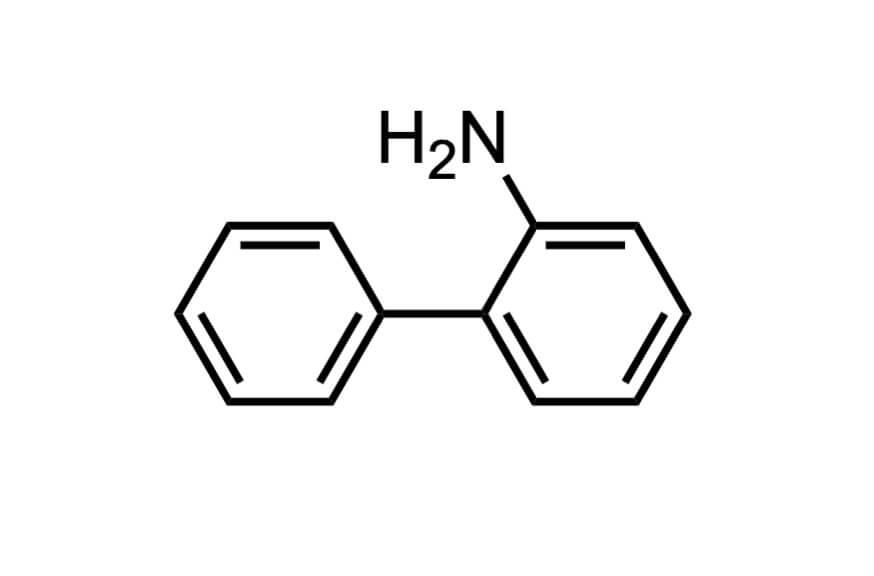 2-アミノビフェニルの構造式