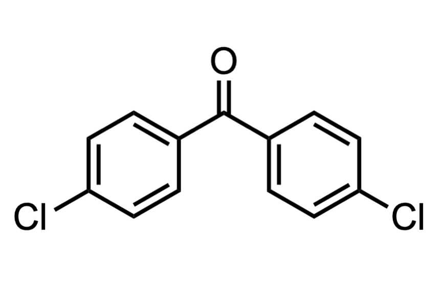 4,4'-ジクロロベンゾフェノンの構造式