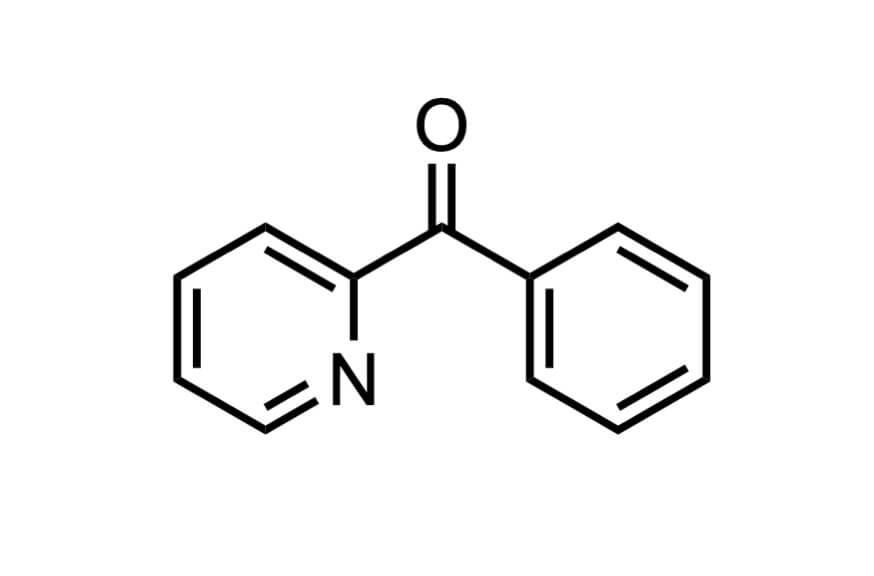2-ベンゾイルピリジンの構造式