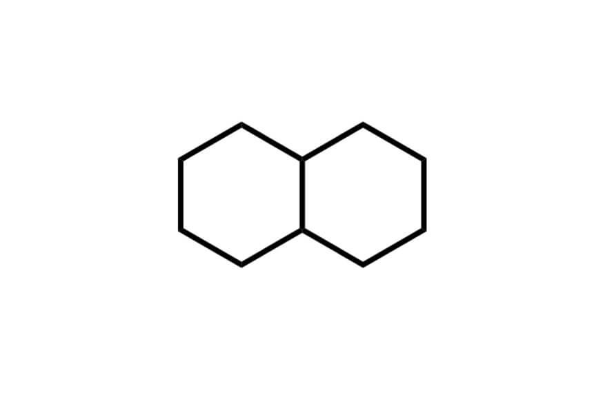 デカヒドロナフタレンの構造式