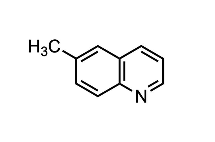6-メチルキノリンの構造式