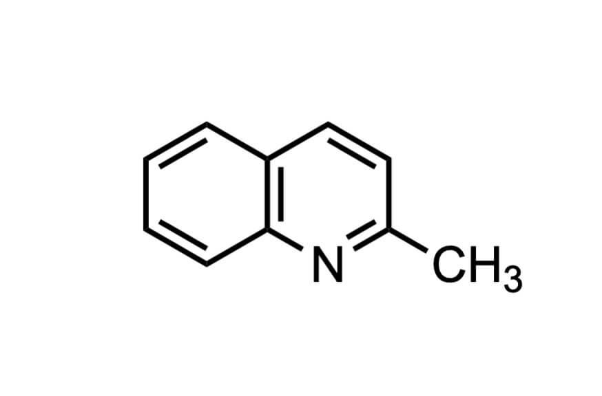 2-メチルキノリンの構造式