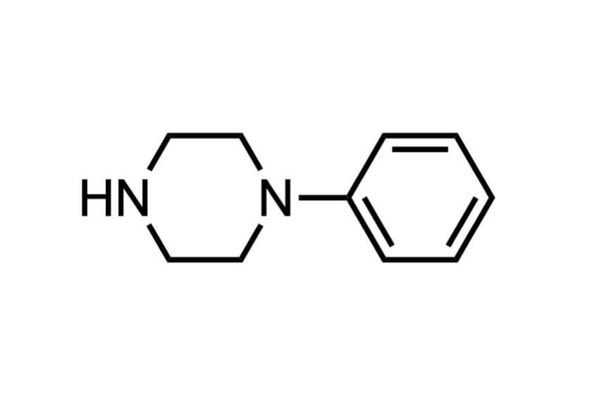 1-フェニルピペラジンの構造式