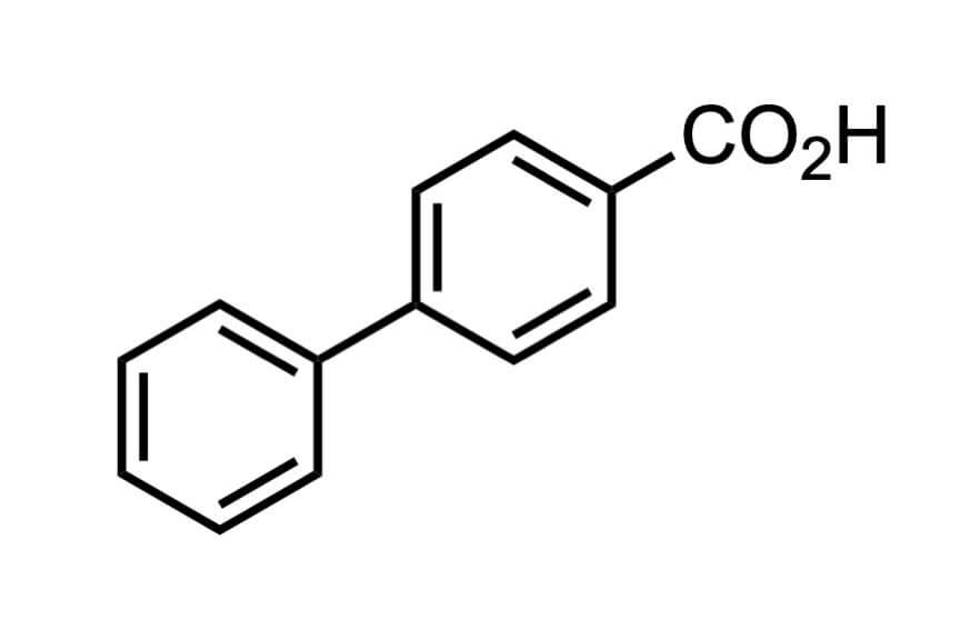 ビフェニル-4-カルボン酸の構造式