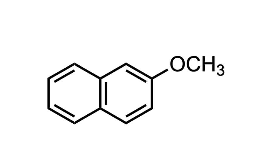 2-メトキシナフタレンの構造式