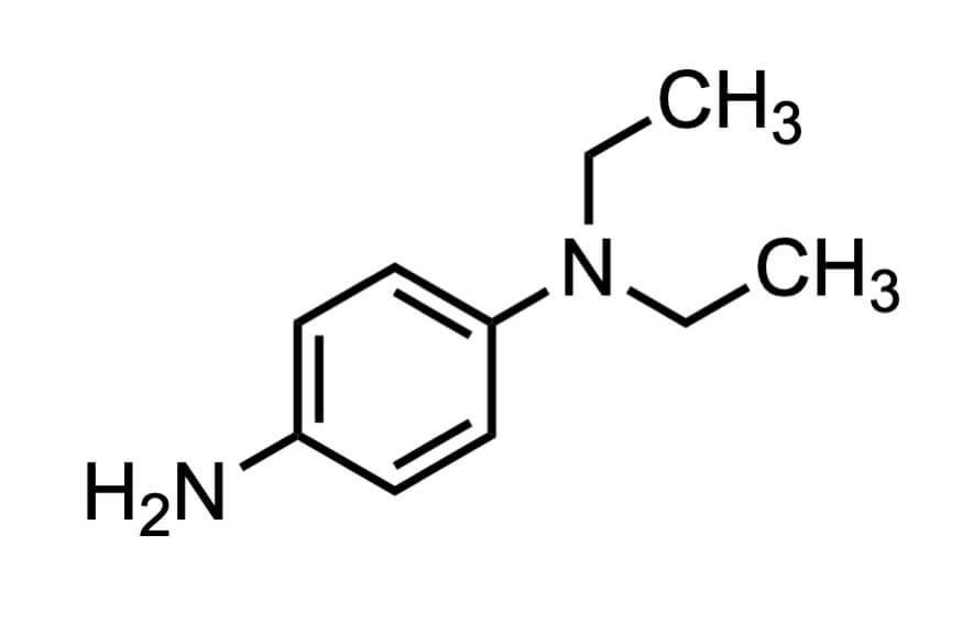 N,N-ジエチル-1,4-フェニレンジアミンの構造式