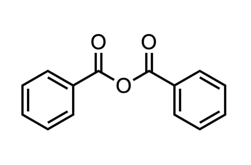 安息香酸無水物の構造式