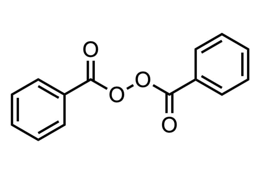 過酸化ベンゾイルの構造式