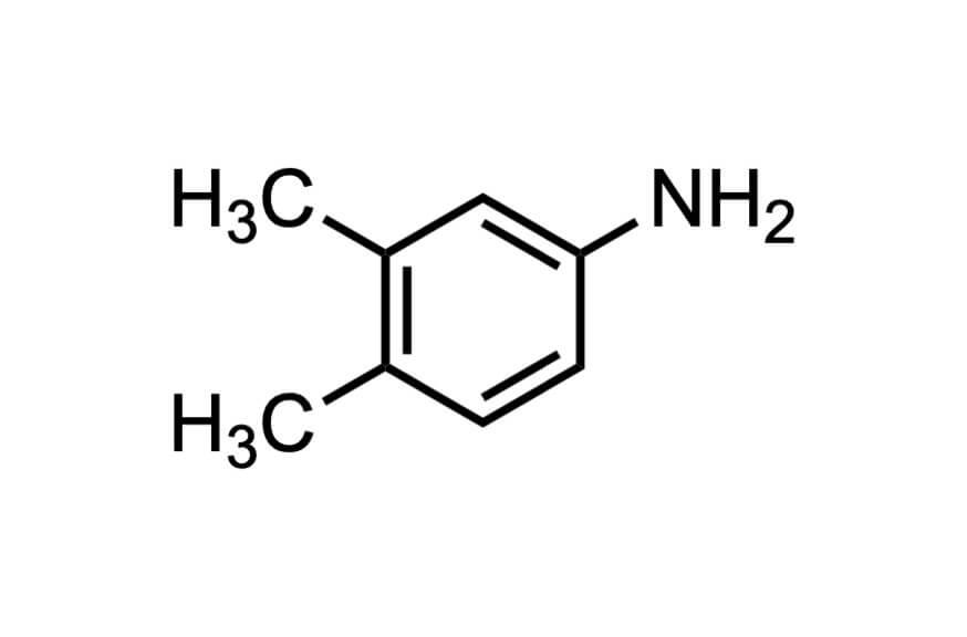 3,4-ジメチルアニリンの構造式