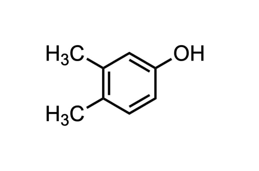 3,4-ジメチルフェノールの構造式