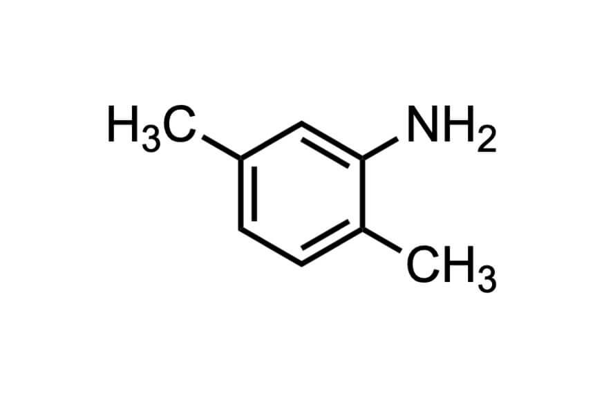 2,5-ジメチルアニリンの構造式