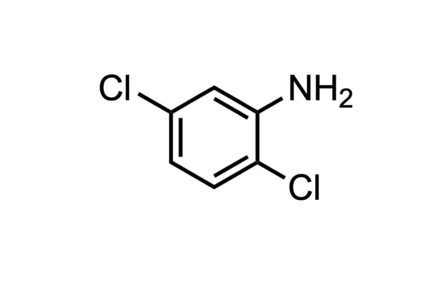2,5-ジクロロアニリンの構造式
