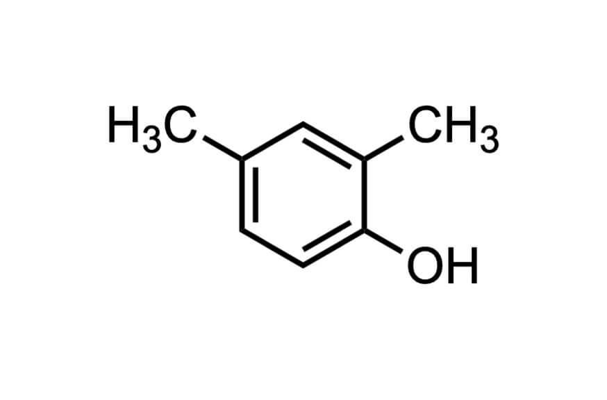 2,5-ジメチルフェノールの構造式